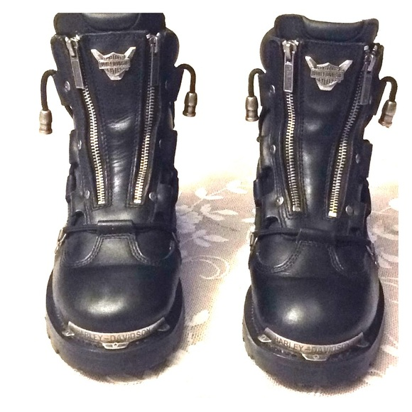 Harley Davidson Womens Brake Light Biker Boots